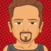 A cartoon avatar of Tony Stark because he is my favorite (Well, actually, JARVIS is, but he's incorporeal so...).