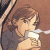 Cassandra Cain drinking tea