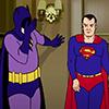 Super golden friends, batman and superman old, superman catwalking, batman facepalm