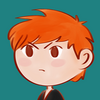 A close up of Zagreus, from the game Hades.