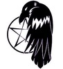 Raven and pentacle