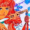 An image of Yoko Nakajima from The Twelve Kingdoms holding her sword