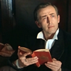 russian sherlock holmes (vasily livanov) reading a book