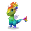Baby rainbow dragon
