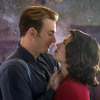 Steve Rogers and Peggy Carter dancing at in the final scene of Avengers: Endgame with stars in the background