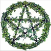 Pagan Wreath - A pentacle shaped of leafy green boughs, symbolizing the belief that the universe is inherently divine.