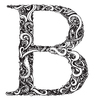 Drawing of the letter B