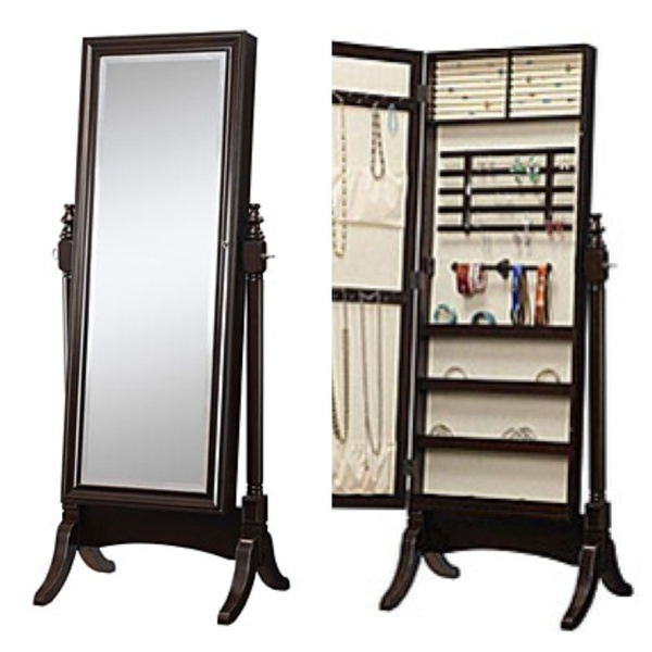 Offerup jewelry armoire amp cheval standing mirror furniture in
