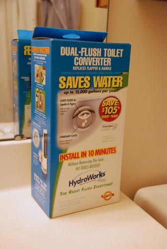 hydroworks dual flush