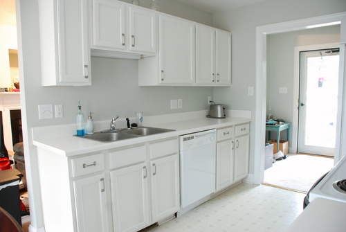 Painted Kitchen Cabinets Benjamin Moore Glacier White