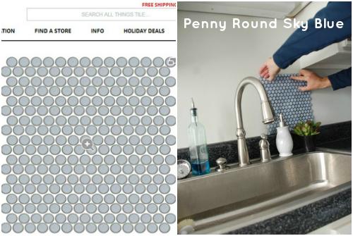 penny tile sky blue tile shop