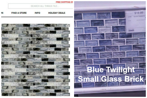 blue twilight small glass brick