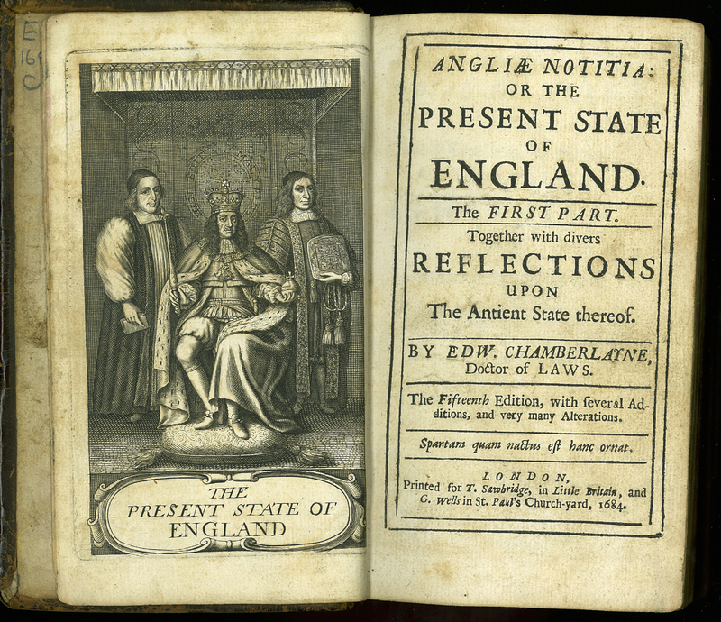 Angliae Notitia: or the Present State of England. The First Part. Fifteenth Edition