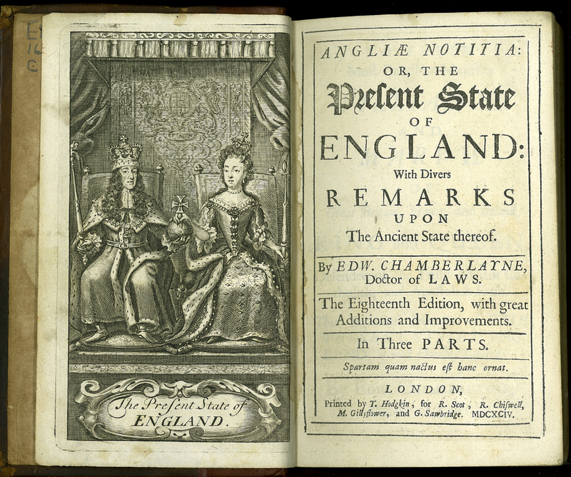 Angliae Notitiae: or, the Present State of England. Eighteenth Edition