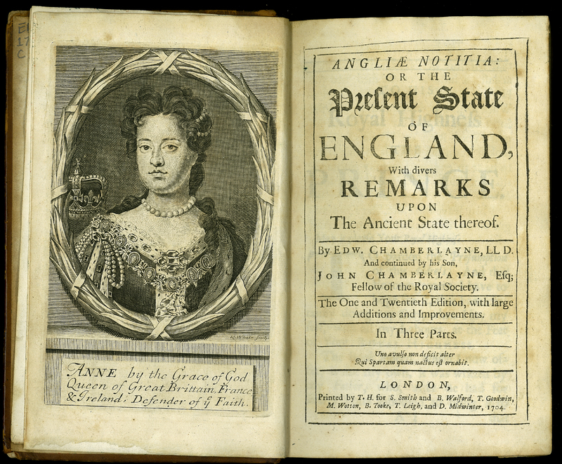Angliae Notitia: or the Present State of England. [Twenty-first edition]