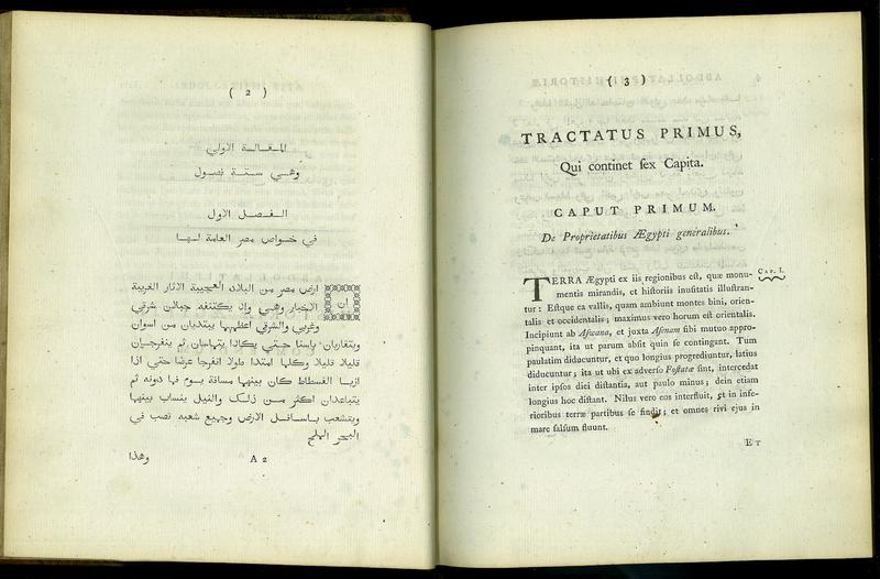 Abdollatiphi Historiae Aegypti Compendium, Arabice et Latine
