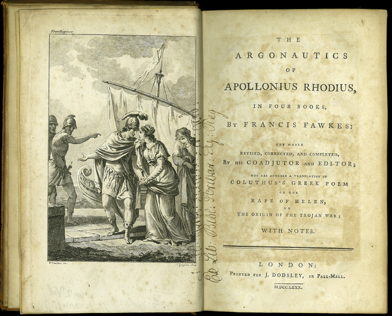 The Argonautics of Apollonius Rhodius, in Four Books