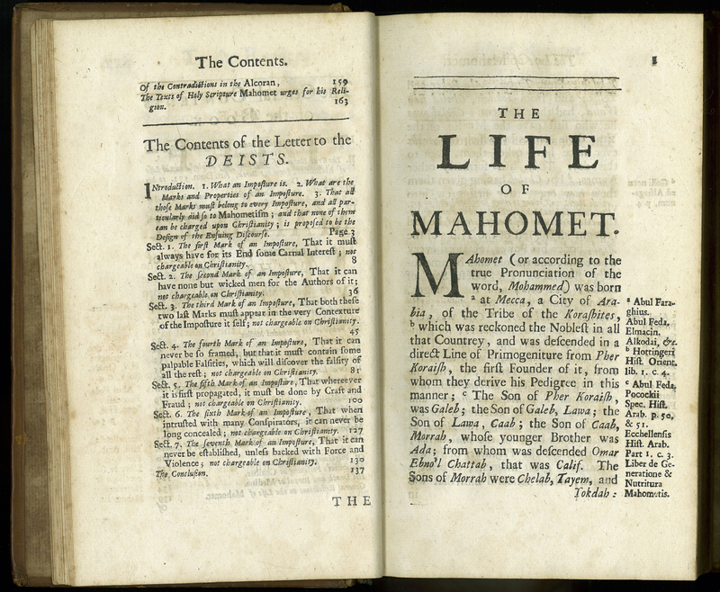 The True Nature of Imposture Fully Display'd in the Life of Mahomet. 3rd edition corrected