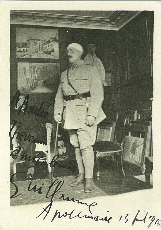 'Guillaume Apollinaire in army uniform, 1916', from portfolio 2 and 4 in Oeuvres Complètes