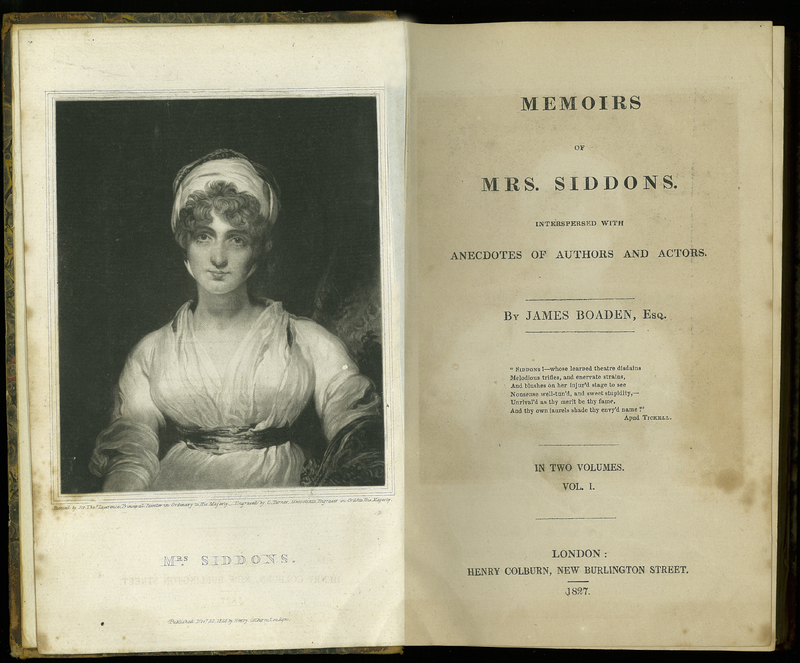 Memoirs of Mrs. Siddons