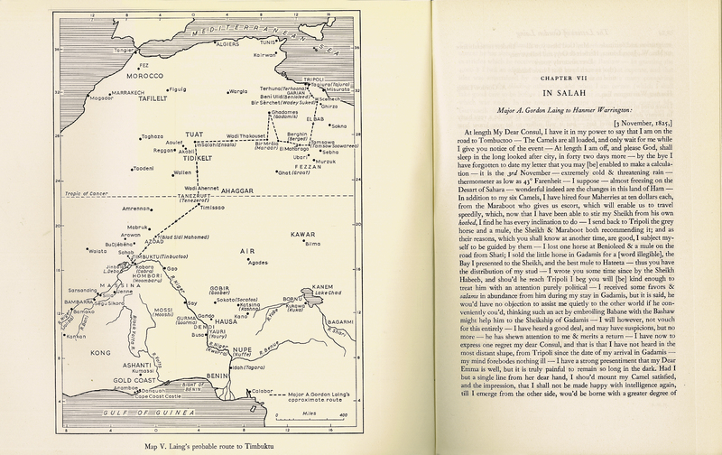 'Letters of Major Alexander Gordon Laing 1824-1826' in Missions to the Niger, Vol. I