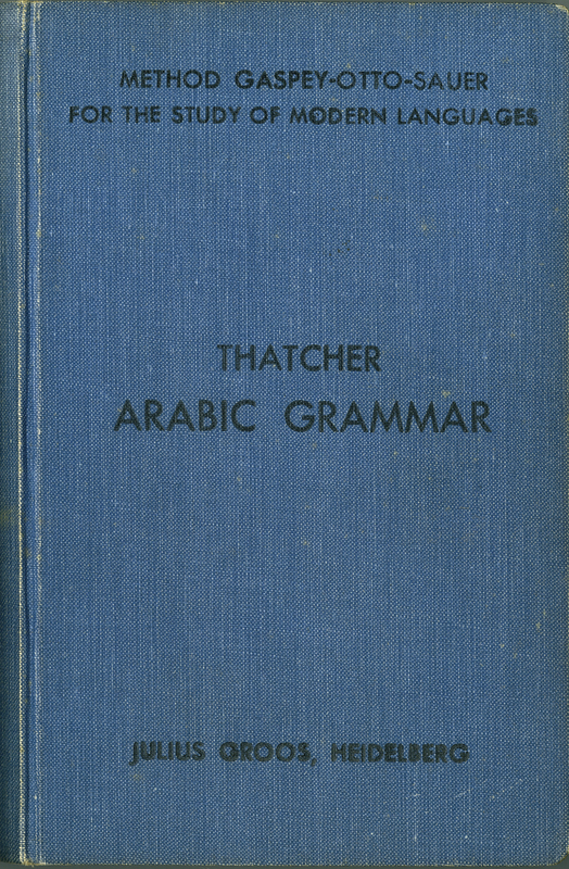 Arabic Grammar of the Written Language. 3rd edition
