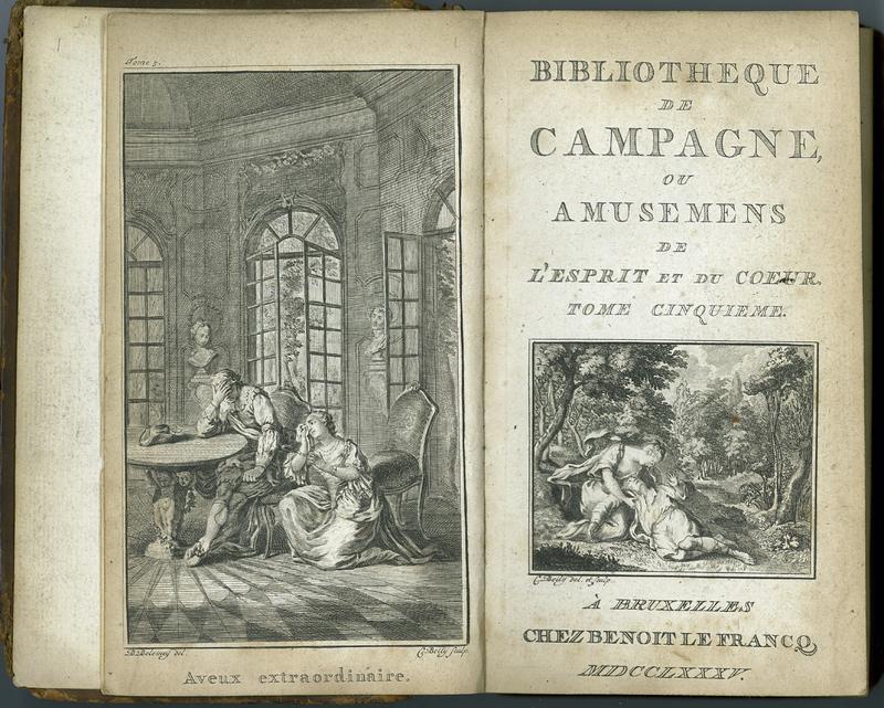 Bibliothèque de campagne, ou, Amusemens de l'esprit et du coeur. Vol. V