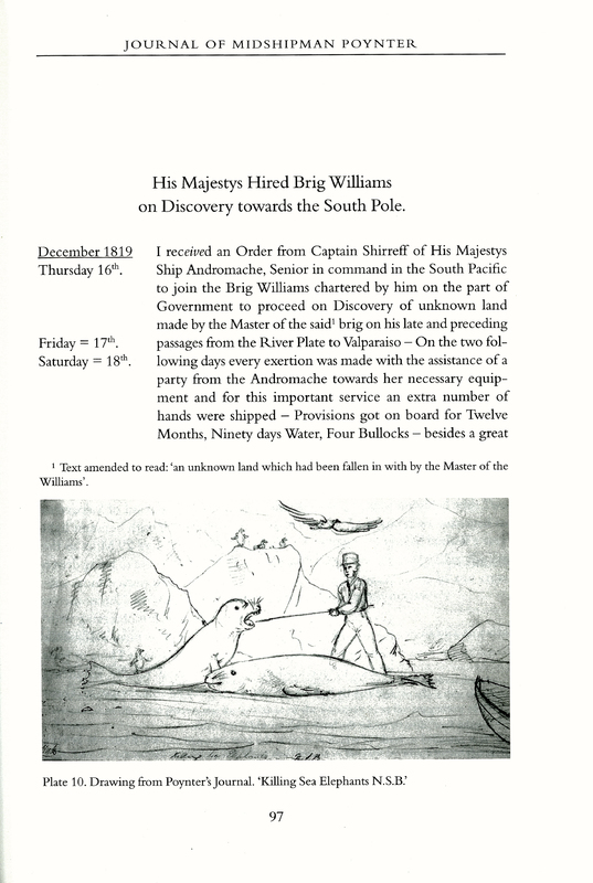 The Discovery of the South Shetland Islands: The Voyages of the Brig Williams 1819-1820, as Recorded in Contemporary Documents, and The Journal of Midshipman C. W. Poynter