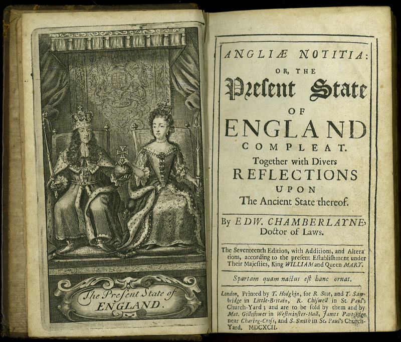 Angliae Notitia: or, the Present State of England Compleat. Seventeenth Edition