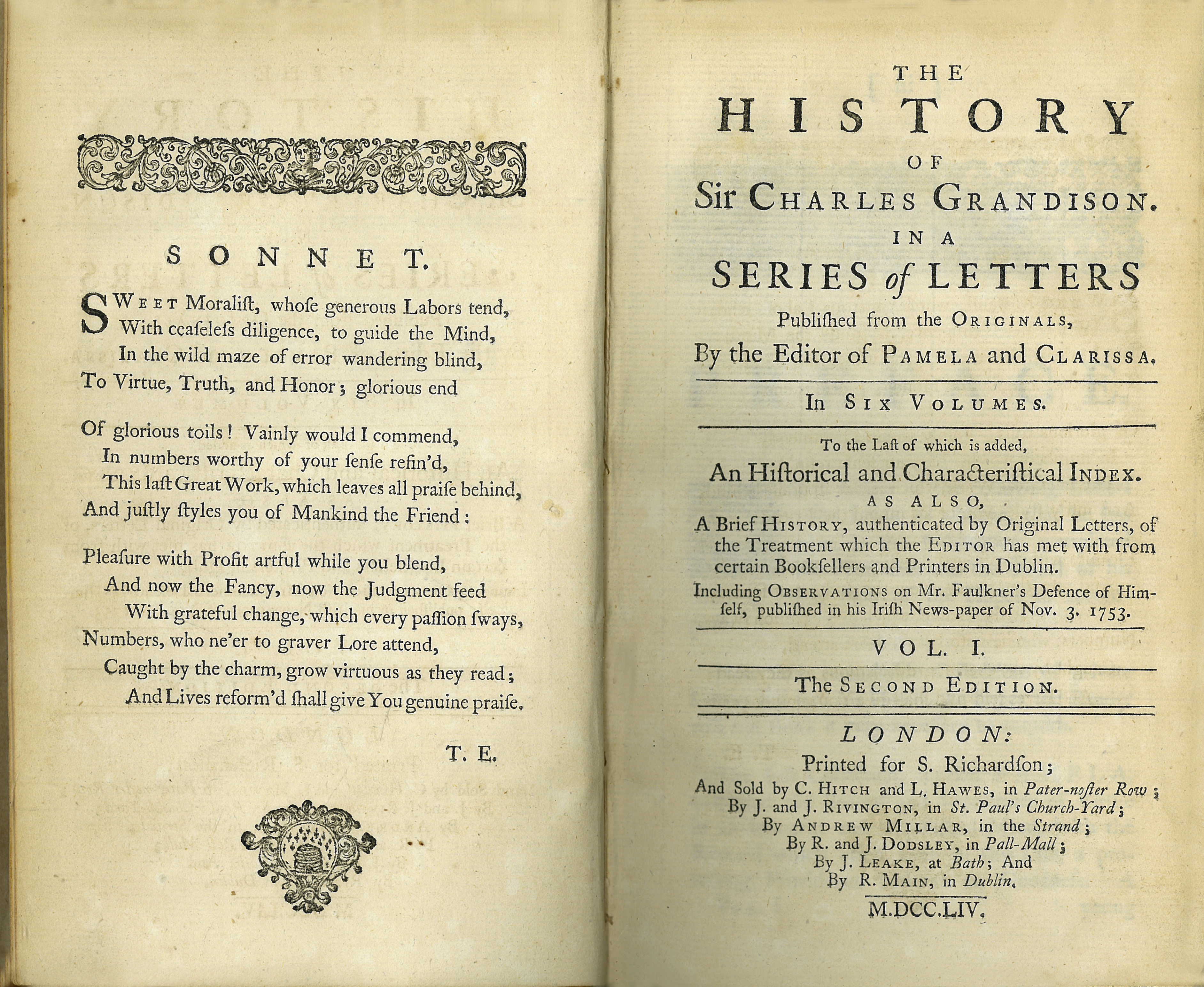 The History of Sir Charles Grandison  2nd edition