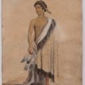 [Maori portrait: man in cloak. 1850] Maori portrait: man in cloak.