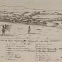 Key plan of New Plymouth, Taranaki, in 1859 Stoddart.