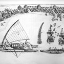 Various Canoes and Ships from abel tasman 1898cab 18.jpg