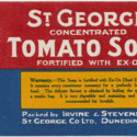 St. George Concentrated Tomato Soup label