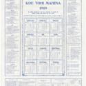 Koe Tohi Mahina 1919 [Tongan calendar]