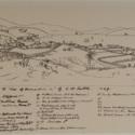 "Key to ""View of Dunedin"" by C.H. Kettle, 1849. T.M.Hocken."