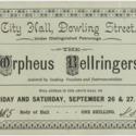 The Orpheus Bellringers ticket