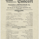 [Port Chalmers District High School] Grand complimentary concert programme