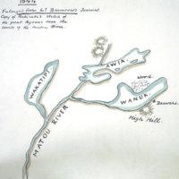 Copy of Rakiraki's sketch of the great lagoons near the source off the Matou River.