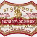 St. George Raspberry and Gooseberry jam label