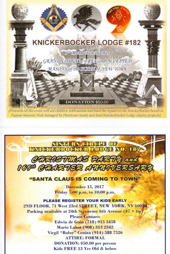 Knickerbocker Lodge #182 F  & A M
