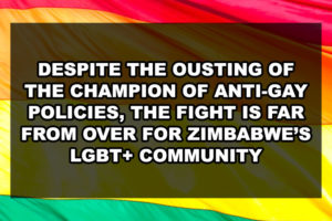 Despite the Ousting of the Champion of Anti-Gay Policies, the Fight is Far from Over for Zimbabwe's LGBT+ Community