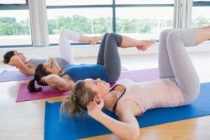 Women doing core exercise
