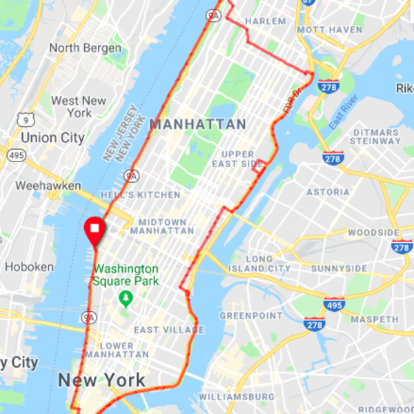 Manhattan circumnavigation