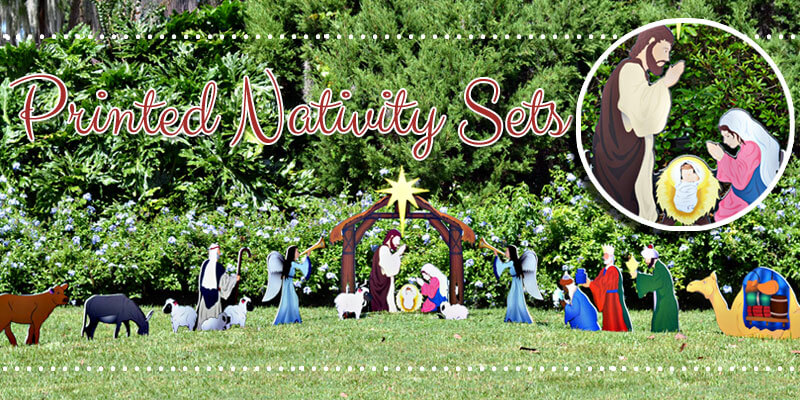 Holy Night Complete Printed Nativity Scene