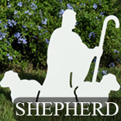 Nativity Shepherd with Sheep