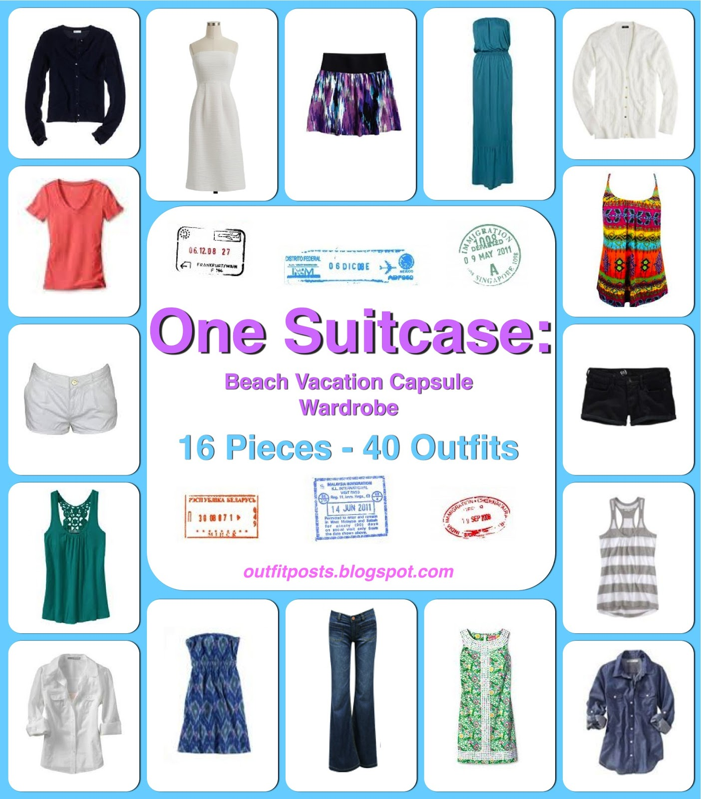 6459d8a634 one suitcase: beach vacation capsule wardrobe