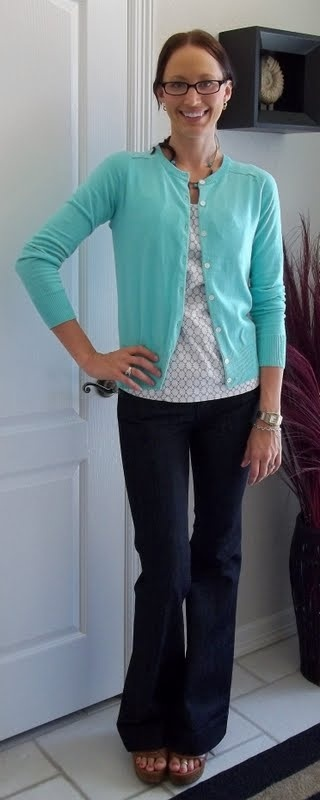 9ccb4bfe67 outfit posts  teal cardigan