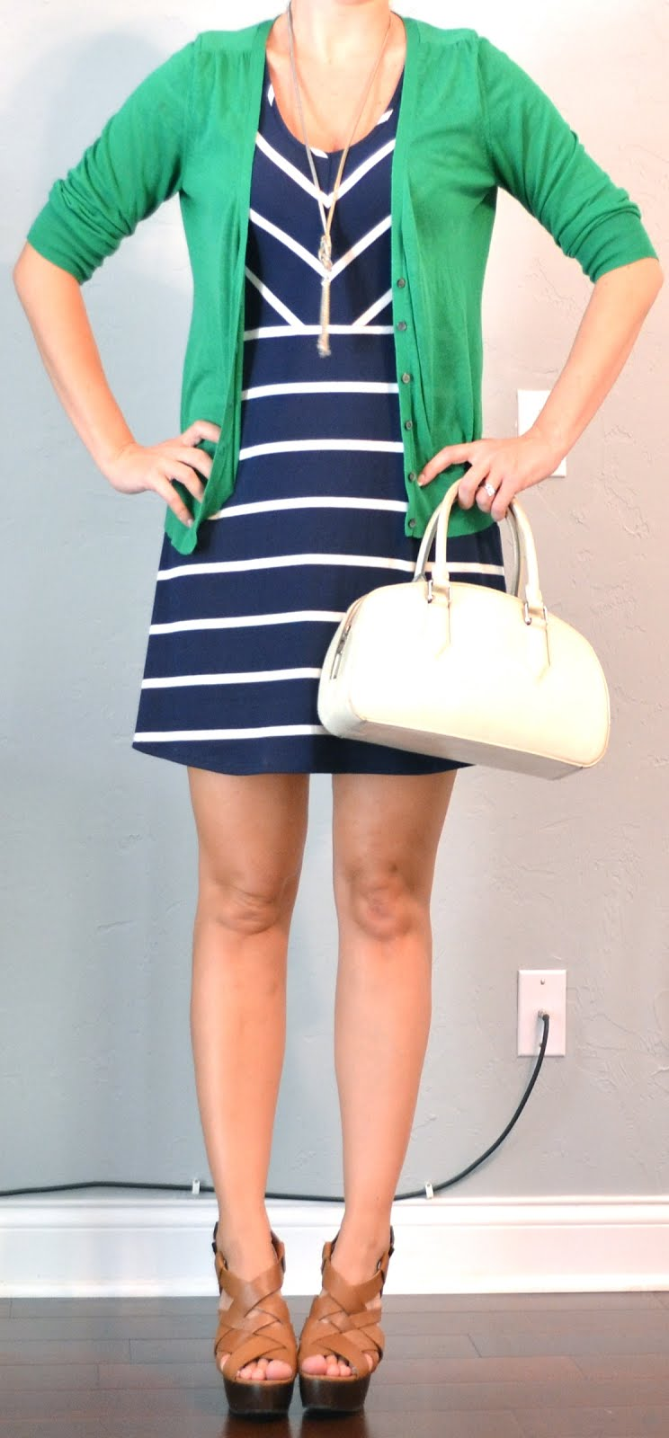 93df20a949ac outfit posts  navy and white striped dress