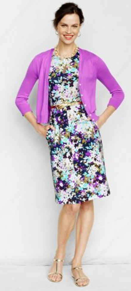 678c828ea0 outfit post  purple sleeveless floral ponte dress